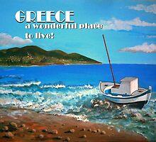 Greece Calendar Cover by Kostas Koutsoukanidis