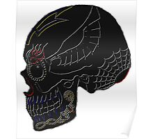 Aviation Ordnanceman - Day of the Dead Embossed Black with Colour Poster