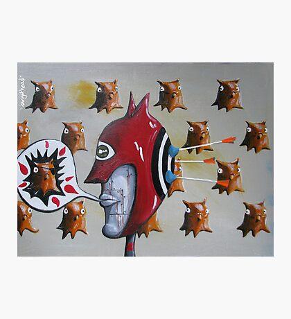 targethead - detail from Mamma Num-m(b)er Photographic Print