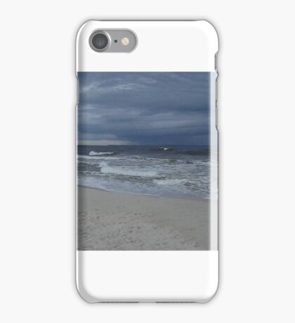 Storm Moves Offshore Beach iPhone Case/Skin