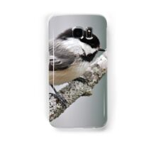Chickadee on branch Samsung Galaxy Case/Skin