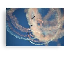Raf Falcons Air Display Canvas Print