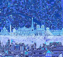 Paris skyline abstract by BekimART