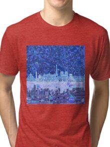 Paris skyline abstract Tri-blend T-Shirt