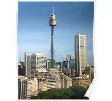 Centrepoint Tower and Sydney Cityscape Poster