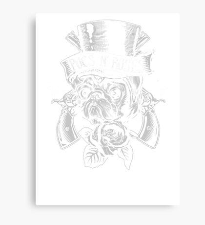 Pugs N Roses Canvas Print