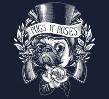 Pugs N Roses by jimiyo