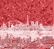 paris skyline abstract 2 by BekimART