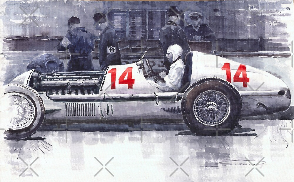 Mercedes W25C MonacoGP 1936 Manfred von Brauchitsch by Yuriy Shevchuk