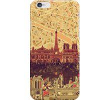 paris skyline abstract 3 iPhone Case/Skin