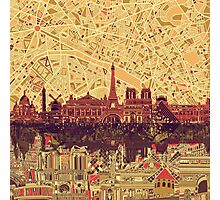 paris skyline abstract 3 Photographic Print