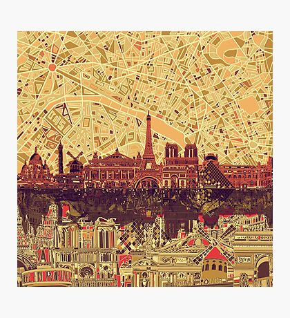 paris skyline abstract 3 Photographic Print