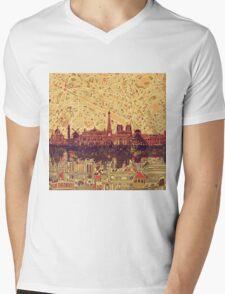 paris skyline abstract 3 Mens V-Neck T-Shirt