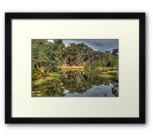 And His Ghost May Be Heard - Wonga Wetlands, Albury NSW - The HDR Experience Framed Print
