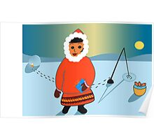 Lapland Christmas Card Poster