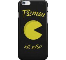 Pacman 80's (est.1980) iPhone Case/Skin