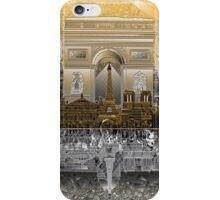 paris skyline abstract 4 iPhone Case/Skin