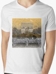 paris skyline abstract 4 Mens V-Neck T-Shirt
