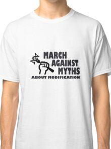 Mamyth logo on mens basic dark green geek funny nerd Classic T-Shirt