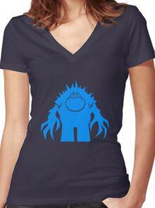 Marshmallow silhouette geek funny nerd Women's Fitted V-Neck T-Shirt