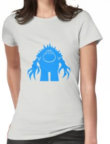 Marshmallow silhouette geek funny nerd Womens Fitted T-Shirt