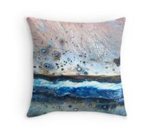 Space Wave Throw Pillow