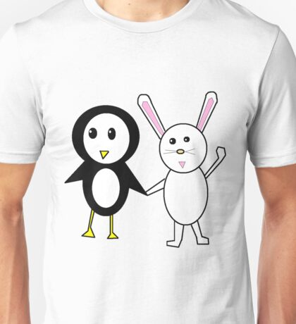 Bunny and Penguin Unisex T-Shirt