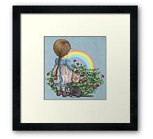 rainbows end card Framed Print