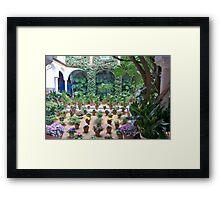 Courtyard Garden Framed Print
