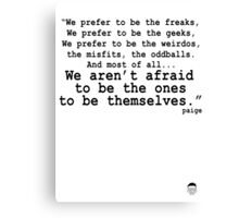 Best Geek Quote Ever... Canvas Print