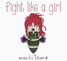 Fight Like a Girl - Orochi Leona | King of Fighters Kids Clothes