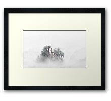misty of huang shan Framed Print