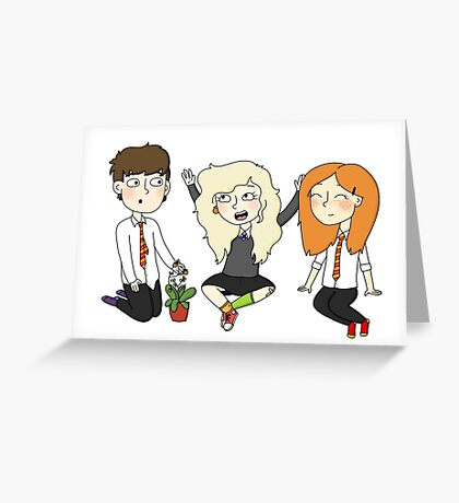 The Silver Trio (Neville, Luna, Ginny) Greeting Card