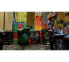 Melbourne city laneways Photographic Print
