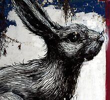 Giant Rabbit by ROA by GraffArt Tees