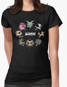 Saga Puffs Parody Womens Fitted T-Shirt