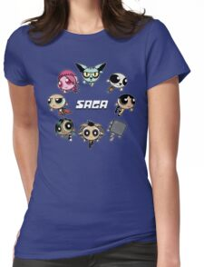 Saga Puffs Parody Womens Fitted T-Shirt