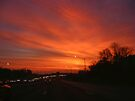 Sunrise on the Road by barnsis