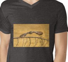 WITH WINGS WIDE SPREAD Mens V-Neck T-Shirt