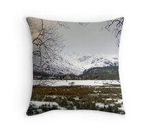 Through the Trees - Borrowdale Valley Throw Pillow
