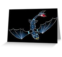 Toothless Umbreon Greeting Card
