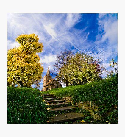 A Little Church in Cambridge Photographic Print