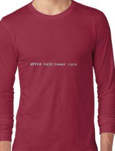 geek upper case lower case Long Sleeve T-Shirt