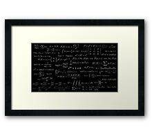 Formulae Framed Print