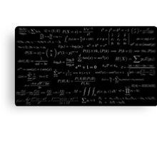 Formulae Canvas Print