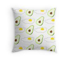 Cute Avacado and Egg design Throw Pillow