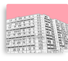 Park Hill Sheffield Pink Canvas Print