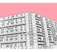 Park Hill Sheffield Pink Photographic Print