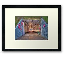 Graffiti Tunnel Framed Print