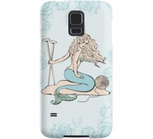 Tattoo mermaid yarn knitting needles Samsung Galaxy Case/Skin